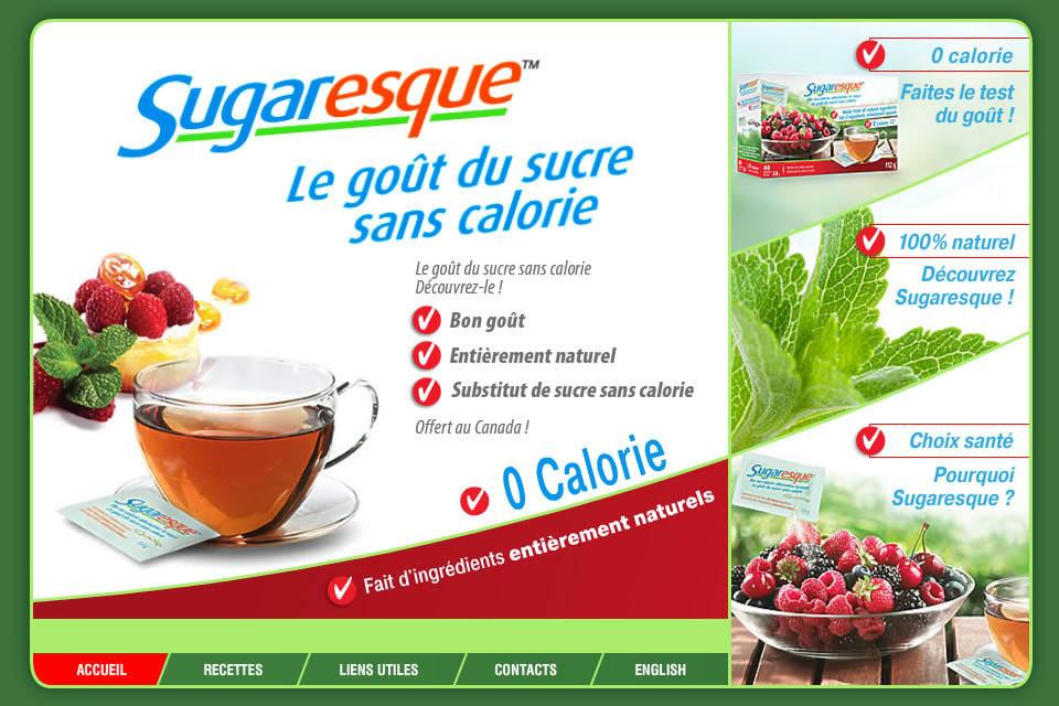 Sugaresque - substitute du sucre naturel sans calories ...